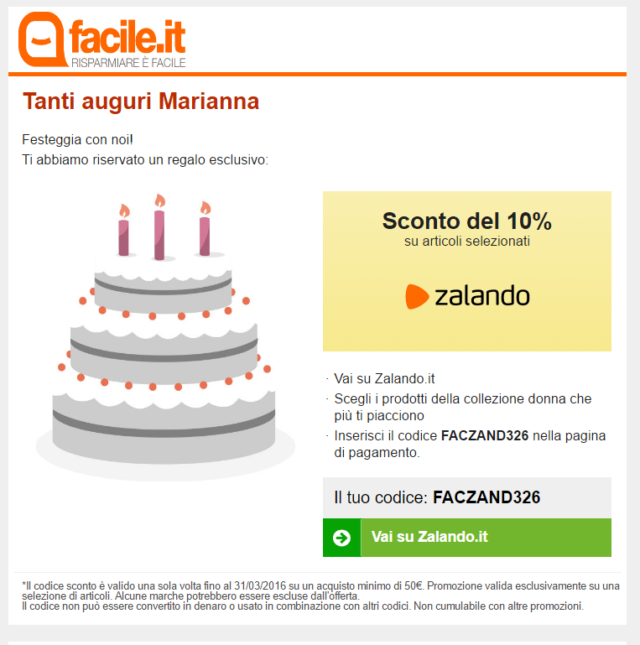 Email di compleano
