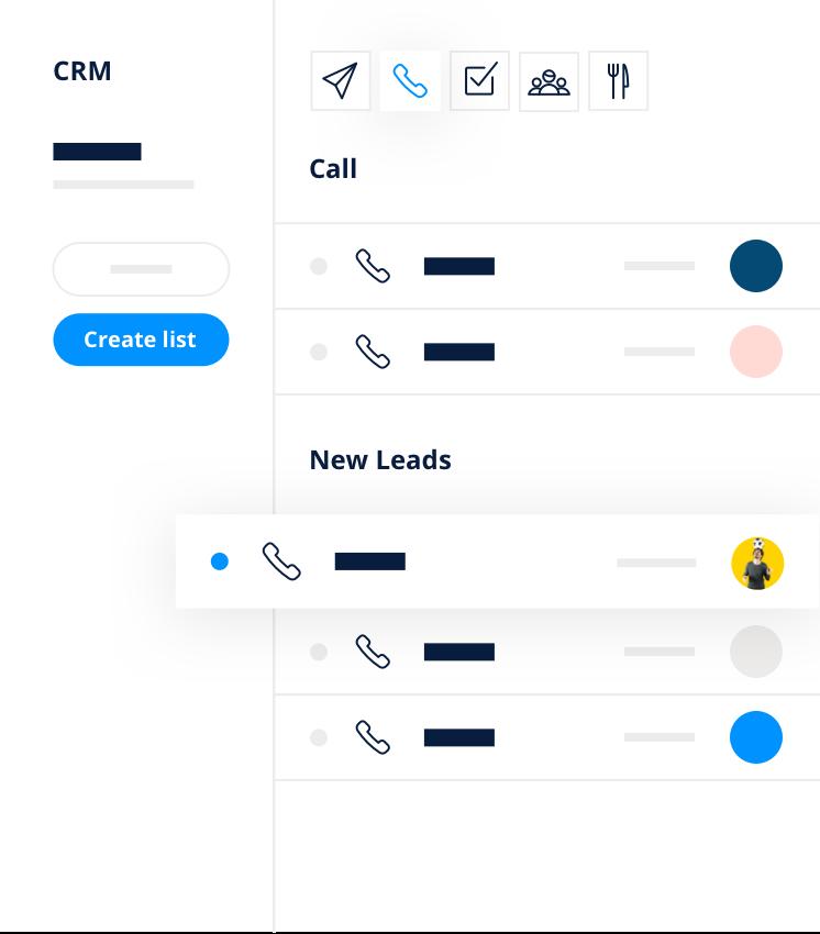 Comunicazione contatti CRM