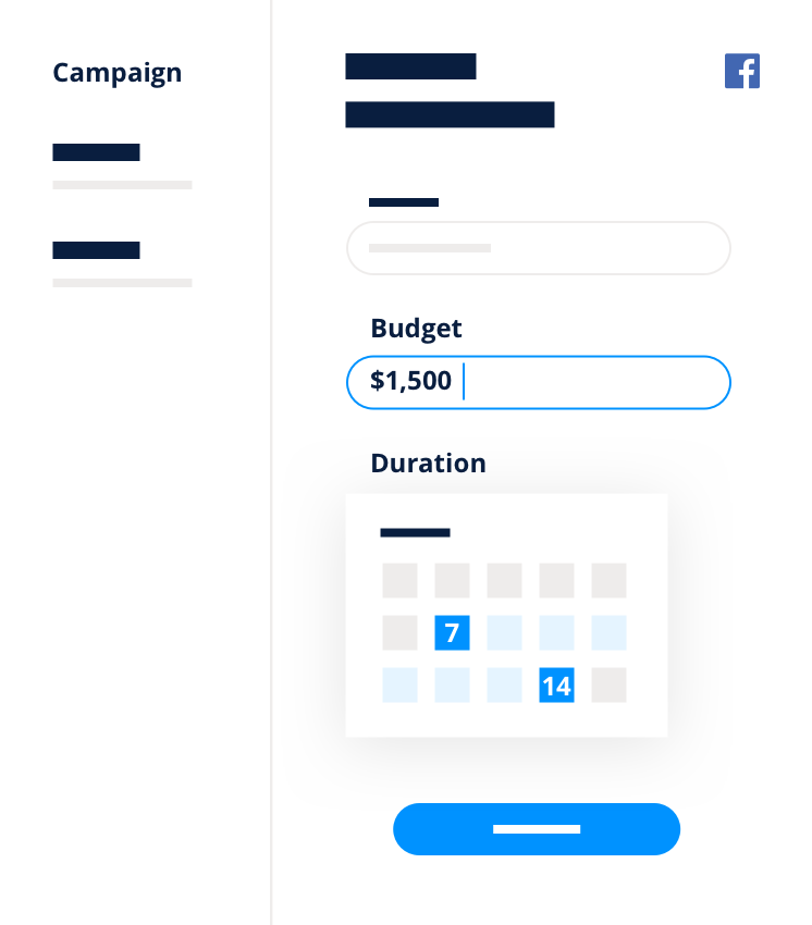 Budget campagna Facebook