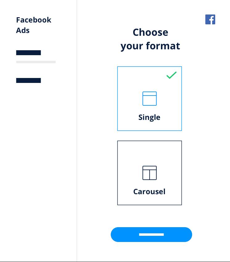 Scegli formato FB Ads