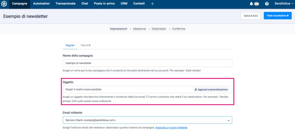 Oggetto-email-sendinblue