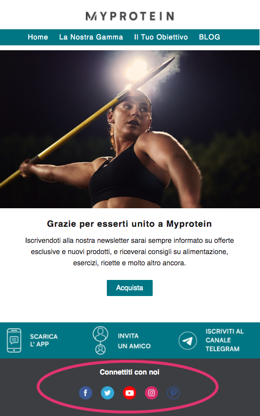 Esempio-welcome-email-myproterin