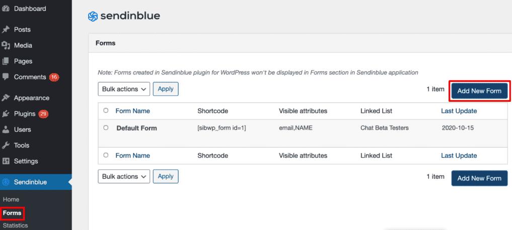 aggiunta_nuovo_modulo_WordPress_Sendinblue