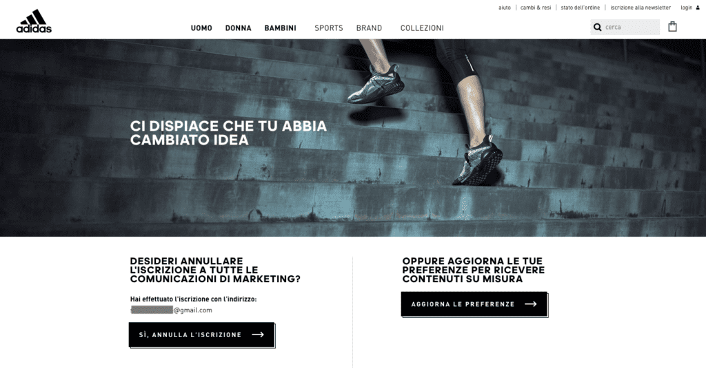 landing_page_disiscrizione_adidas
