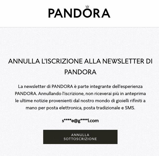 testo_cancellazione_newsletter_pandora