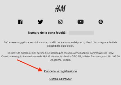 cancella-registrazione-esempio